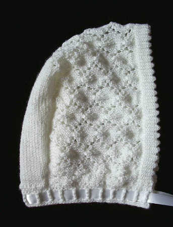 Knitted Chrisening Hat