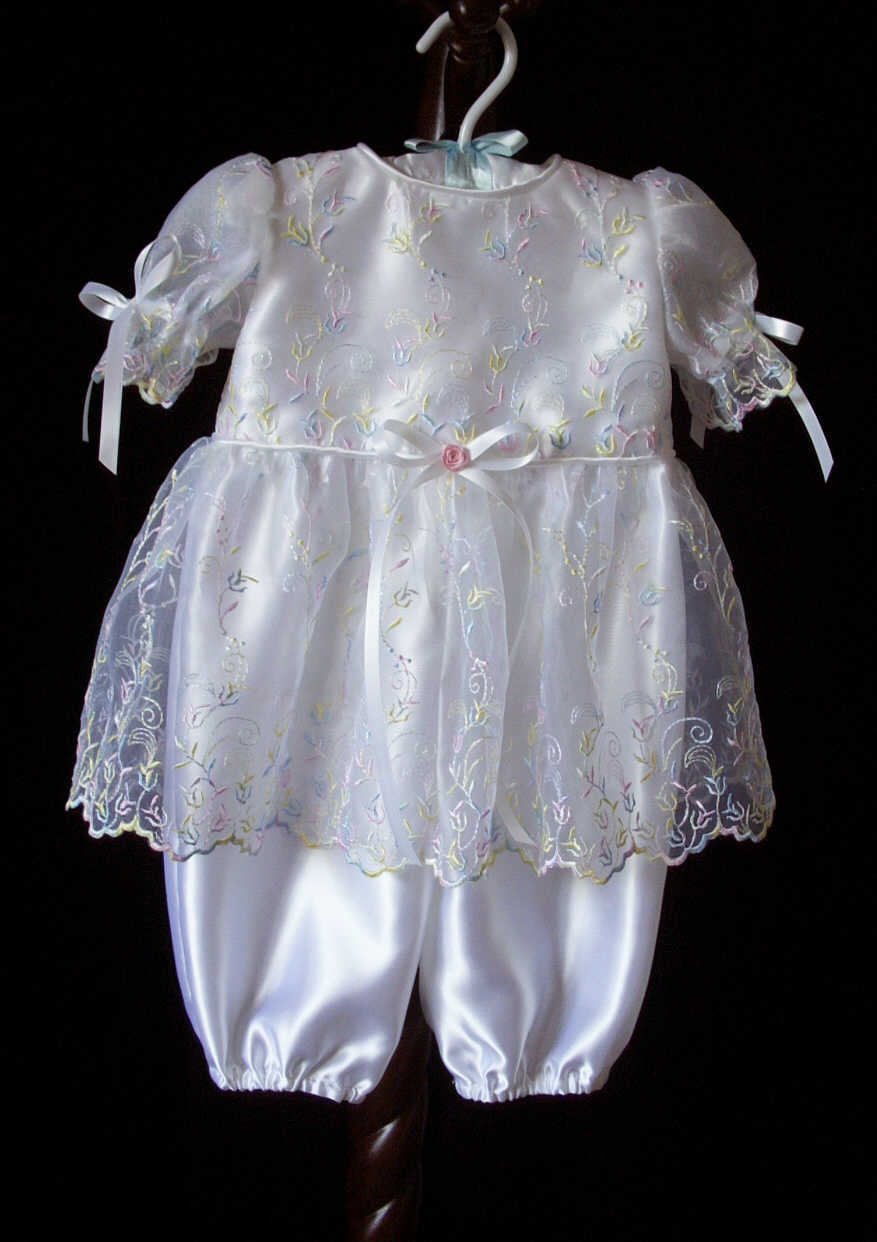 Girl's Christening Romper